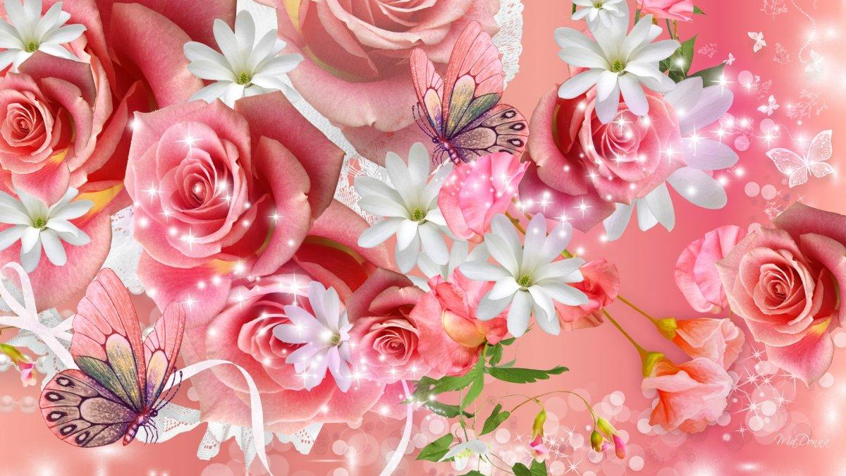 Fleurs et papllons